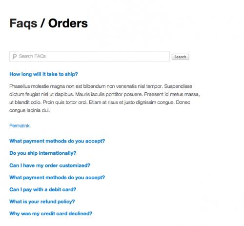 FAQ plugin