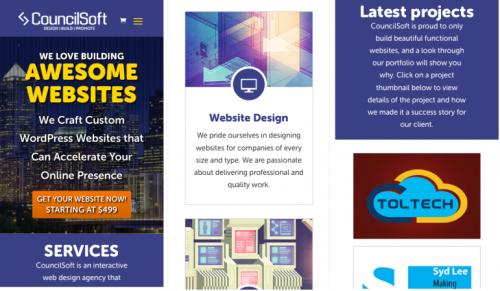 responsive WordPress website